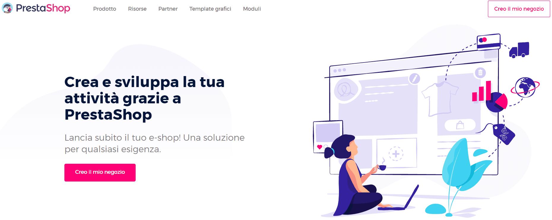 creare sito e-commerce-Prestashop