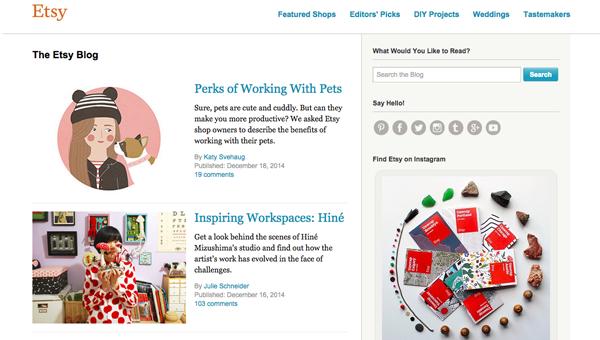 Etsy-esempio blog aziendale 3