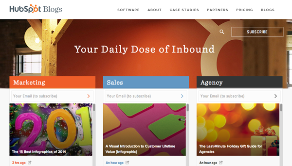 hubspot- esempio blog aziendale
