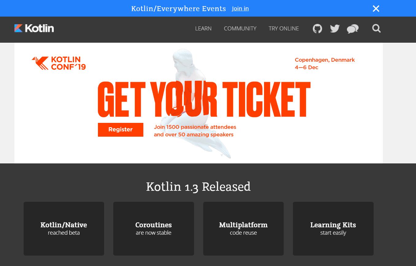 Kotlin sviluppo app