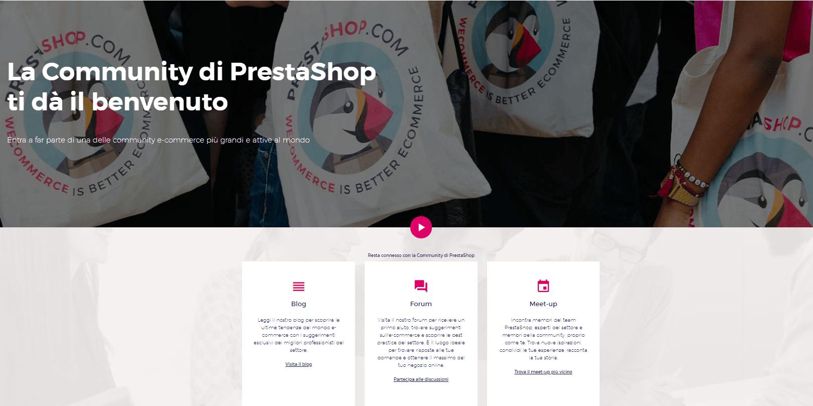 Community prestashop- preventivo