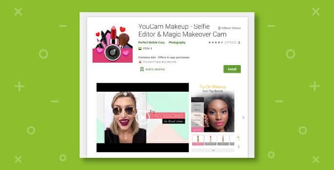 App realtà aumentata Youcam makeup