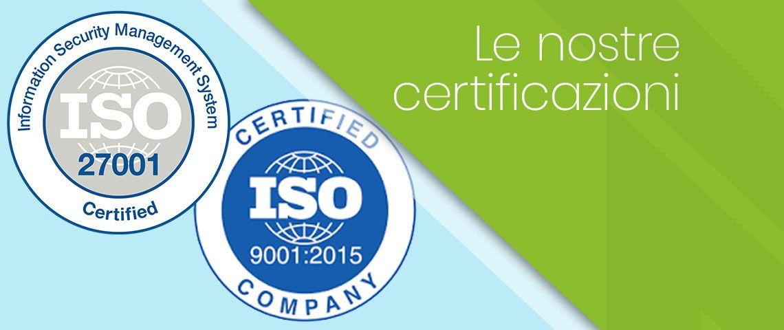 Nextre ha conseguito le certificazioni ISO 9001 e ISO 27001