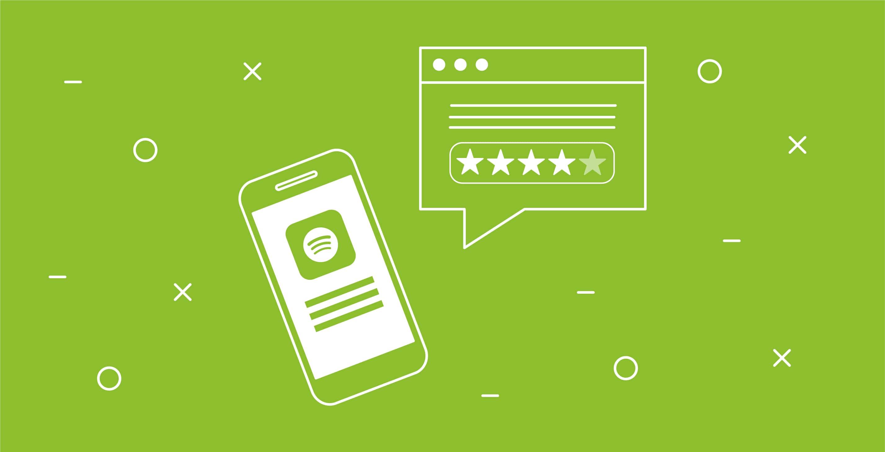 app store optimization - recensioni