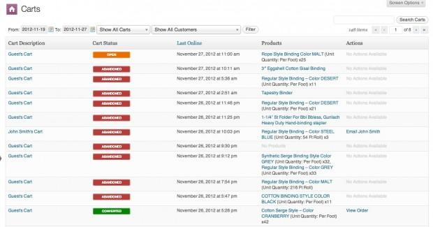 Una lista prodotta dal plugin List View sul plugin woocommerce per aumentare le vendite
