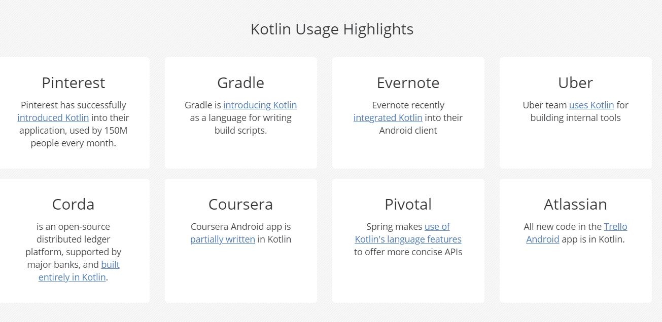 creare app Kotlin- aziende