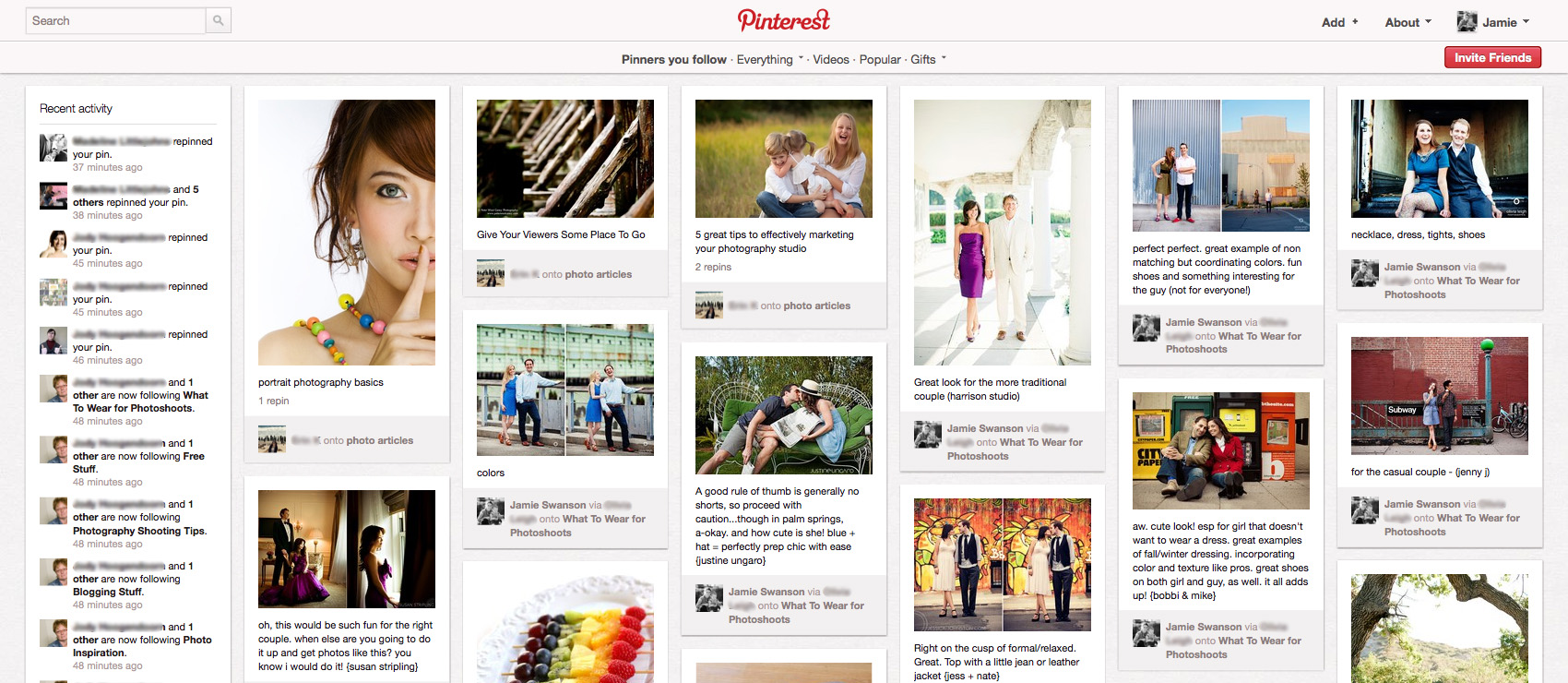 scrivere un post per Pinterest