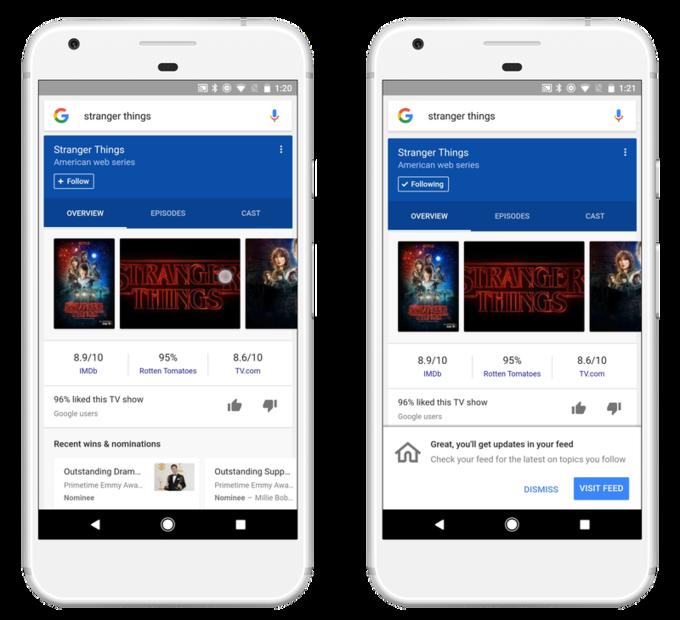 google feed personalizzato