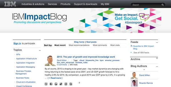 IBM- esempio blog aziendale 2