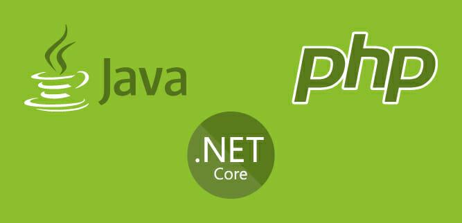 Qual è il linguaggio di programmazione migliore tra Java, PHP e .NET Core?