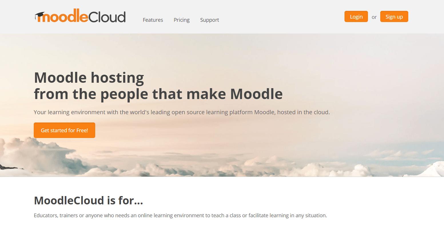 quanto costa moodle - cloud