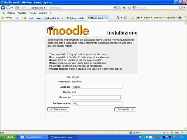 Installazione Moodle 2