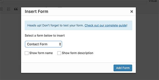 Form Contatti GDPR in WordPress