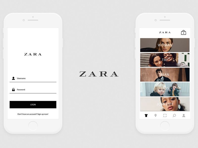 realizzare app moda Zara