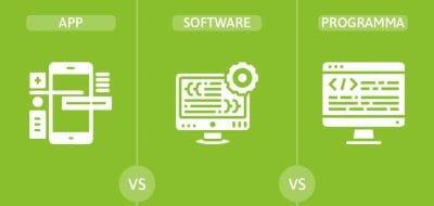 Differenza tra app software e programma