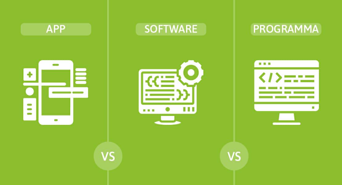 Qual è la differenza tra app, software e programma